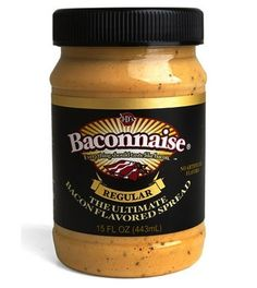 Baconnaise - Bacon flavoured mayonaise.