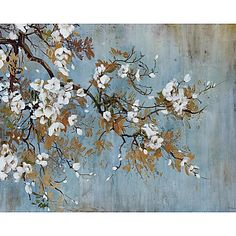 Portfolio Canvas Decor Sakura by Bridges Wrapped and Stretched Canvas Wall Art, Size: Large 33 inch, Multicolor Tree Canvas, Canvas Art Prints, Painting Prints, Canvas Wall Art, Paintings, Neutral Canvas Art, Hanging Wall Art, Tree Art, Poster Prints