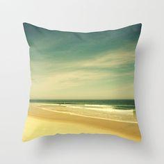 Ocean Pillow Cover Sea Pillow Decoration Beach Pillow Teal Coral Throw Pillow 16 x 16
