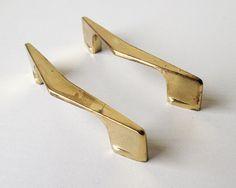 Vintage gold handles mid century arrow furniture by SadRosetta