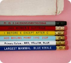 Know It All No. 2 Pencil Set by paperpastries on Etsy