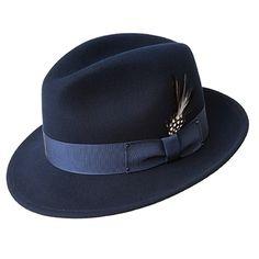 1930s Mens Hat Fashion Bailey Blixen - Soft Wool Felt Fedora Hat $88.00 AT vintagedancer.com