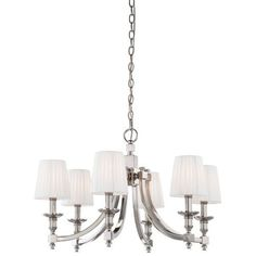 Continental Classics Polished Nickel Six-Light Chandelier