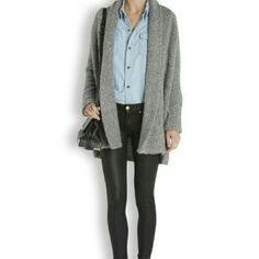 Joie Solome Boucle Grey Cardigan Sold Out Joie Solome sweater coat in super soft, textured boucle features an oversized fit, shawl collar and open styling with side slit front pockets.  DETAILS  Soft Boucle63% Acrylic, 25% Wool, 12% Polyester Joie Sweaters Cardigans