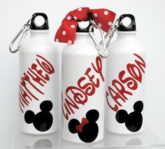 Mickey Or Minnie Personalized 20oz Aluminum Bottle by jgrimes1, $8.75
