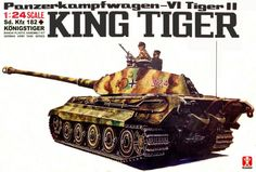 Bandai German King Tiger 1/24 Scale Big Classic Model Series.