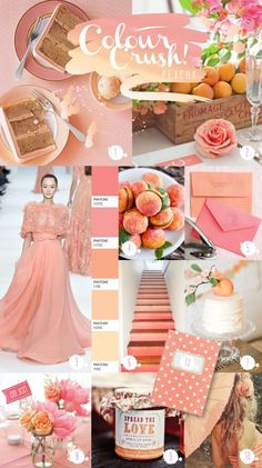 Peach wedding inspiration board | Wed in London Keywords: #weddings #jevelweddingplanning Follow Us: www.jevelweddingplanning.com  www.facebook.com/jevelweddingplanning/