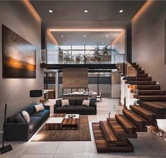 Dream Home Design, Modern House Design, Modern Interior Design, Architecture Design, Modern Architecture House, Stairs Architecture, Architecture Interiors, Modern Houses, Amazing Architecture
