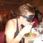 Polly Wogg Eats Blind Folded & Senator Joe Griffo Sings at Dark Dining [PHOTOS & VIDEO]