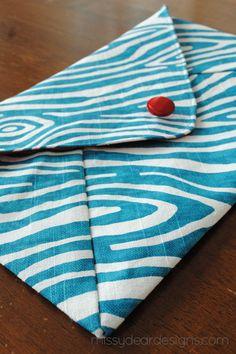 A Sew-Along Envelope Clutch | missydear designs