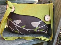 SALE Chattering Birds on a Branch /  /Tote /Handbag by LBArtworks,