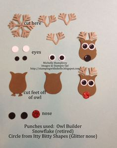 Wish I had that owl punch. Cute versatile ideas I'm finding.