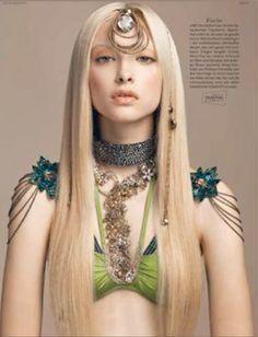 Otazu in Swarovski's Vogue Calendar