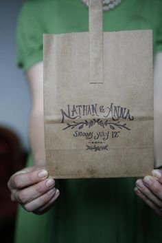 personalized stamped paper bags.