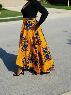 African Fabric Hi-low Maxi Circle Skirt; African Print Skirt African Fabric Hi-low Maxi Circle Skirt; African Party Dresses, African Fashion Skirts, African Print Fashion, Skirt Fashion, African Print Skirt, African Print Dresses, African Dress, African Fabric, Ankara Fabric