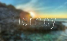 Baby Name: Tierney. Origin: Irish