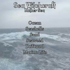 Book of Shadows: #BOS Sea Witchcraft page.