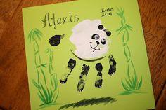 Handprint Panda Bear