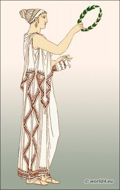 Greek dress - Woman with detached diploidion.