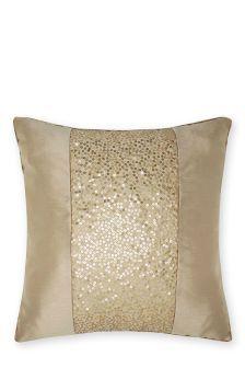 Buy Embellished Shimmer Panel Cushion from the Next UK online shop