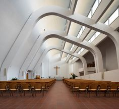 Architecture Artists, Commercial Architecture, Interior Architecture, Alvar Aalto, Nordic Design, Scandinavian Design, Modern Church, Famous Architects, Le Corbusier
