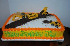construction theme birthday cake   construction cake — Children's Birthday Cakes