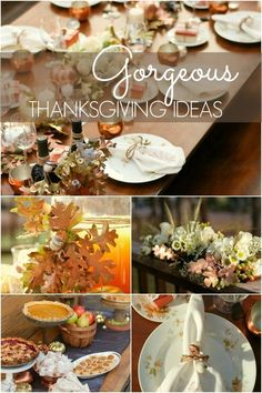 Set a beautiful table this Thanksgiving with these stunning decorating ideas.