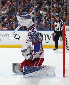 BUFFALO, NY - DECEMBER 01: Henrik Lundqvist #30 of the New York Rangers makes a save against the Buffalo Sabres during an NHL game at the KeyBank Center on December 1, 2016 in Buffalo, New York. (Photo by Bill Wippert/NHLI via Getty Images)