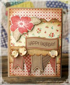 Happy Birthday. ✿ Join 1,900 others & follow the Cards and paper crafts board. Visit GrannyEnchanted.Com for thousands of digital scrapbook freebies. ⊱✿⊰
