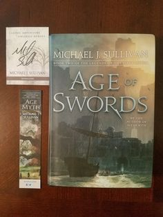 I got this in the mail this week! A beautiful signed and stamped copy of Age of Swords by Michael J. Sullivan . I am very excited for this book. I can't wait to dive into this new ser…