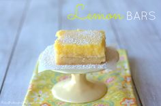 Zesty Lemon Bars :: shortbread crust, vibrantly bright lemon flavor with just the right amount of sweet.