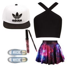 """""""Untitled #72"""" by sofiajas on Polyvore featuring BCBGMAXAZRIA and adidas"""