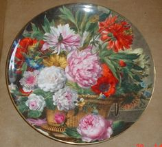 Very Pretty Wedgwood Collectors Plate BASKET OF PEONIES in Collectables, Decorative Ornaments/ Plates, Collector Plates | eBay