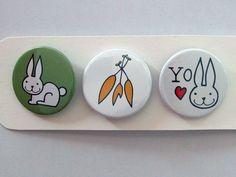 Especial  Amor de conejo por HappyBroccoli en Etsy, €3.45 #chapas #pinbackbutton