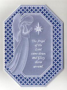 Parchment angel card