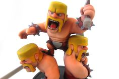 Clash of Clans figurine by Supercell. Printed in matt multicolor. #3dprinting #3dmodeling