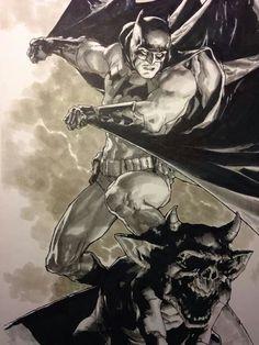 Gotham's Knight by Leinil Yu