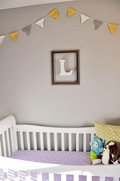 diy crib skirt, gray and yellow nursery