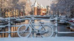 Winters Amsterdam, fotograaf onbekend.
