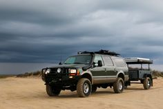36 Hours of Adventure: Sand and Seas - Expedition Portal Ford Excursion Diesel, 2000 Ford Excursion, Overland Truck, Expedition Vehicle, Lincoln Aviator, Powerstroke Diesel, Diesel Trucks, Sexy Cars, New Adventures