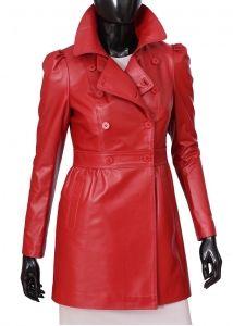 Płaszcz skórzany damski DORJAN ELZ461 Red Leather, Leather Jacket, Jackets, Fashion, Rouge, Colors, Fotografia, Red, Leather Jackets