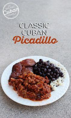 MY Big Fat Cuban Family - Classic Cuban Picadillo Recipe