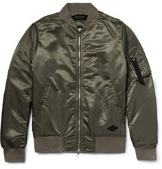 Originally designed for US military pilots, the bomber jacket has become a modern wardrobe essential. rag & bone's 'Manston' version comes in cool army-green satin with a contrasting bright-orange lining. Layer it over a sweatshirt and jeans at the weekend.