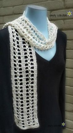 Coraline's Summer Crush Scarf is a lovely and light free crochet pattern. Easy and quick to make, try it! SimplyCollectibleCrochet.com