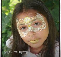 Lace mask face paint