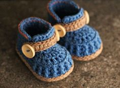 Baby boys Booties Crochet Shoes Jett Boots Instant by Inventorium