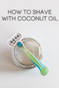 DIY Coconut oil Shaving Cream - Top 10 Coconut Oil Beauty Uses