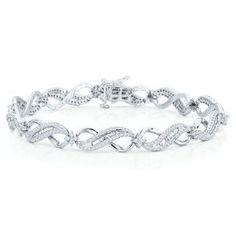 1 4ct Tw Diamond Heart Earrings In Sterling Silver Fashion