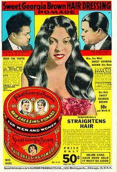 Valmor advertisement for Sweet Georgia Brown Pomade...'30s