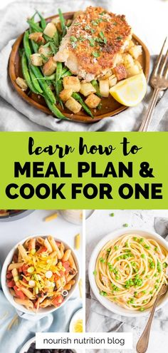 Learning how to cook for one doesn't have to be difficult. If you struggle to cook for yourself, you're likely making the mistake of cooking for one like you'd cook for a family. This is a common mistake that's also really easy to fix. Learn all the steps you need to master cooking for one and enjoy it! One Person Meals, Meals For One, Cooking For One, Cooking On A Budget, Pasta Recipes, Cooking Recipes, Dinner For One, Single Serving Recipes, Intuitive Eating